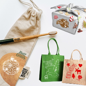 ¿Las fiestas navideñas ? Soportes textiles responsables y creativos para una mejor comunicación
