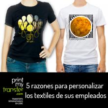Compañías: 5 razones para personalizar los textiles de sus empleados.