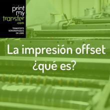La impresión offset, ¿qué es?