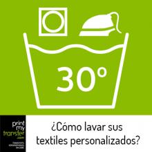 ¿Cómo lavar sus textiles personalizados?